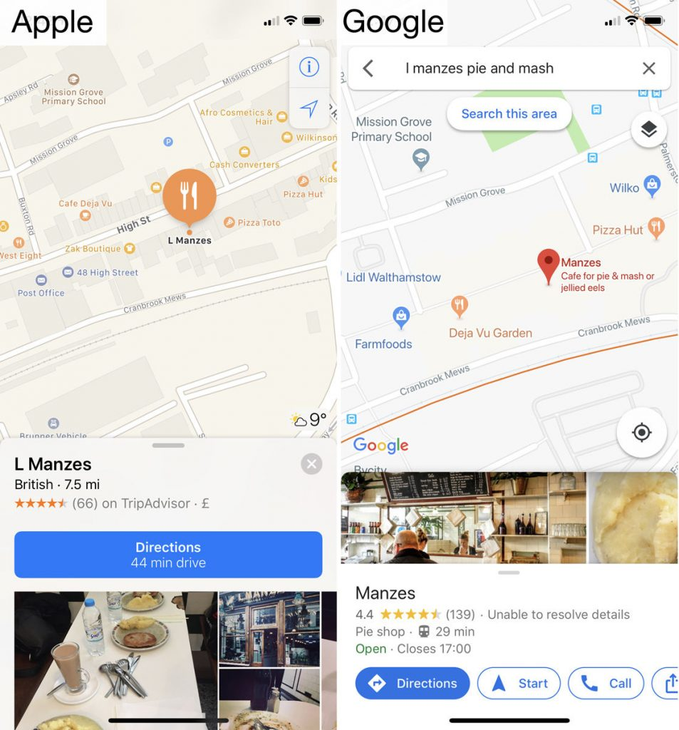 Apple Maps Vs Google Maps 2019, which is better to find your way?